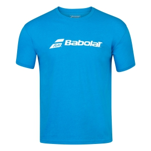 Tennis Polo and Shirts Babolat Exercise TShirt Boy  Blue Aster Heather 4BP14414052
