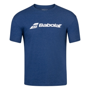 Tennis Polo and Shirts Babolat Exercise TShirt Boy  Estate Blue Heather 4BP14414005