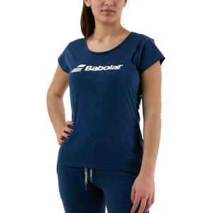 Women`s Tennis T-Shirts and Polos Babolat Exercise TShirt  Estate Blue Heather 4WP14414005