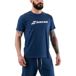 Men's Tennis Shirts Babolat Exercise TShirt  Estate Blue Heather 4MP14414005
