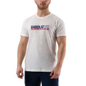 Men's Tennis Shirts Babolat Exercise Vintage TShirt  White 4MS204431000