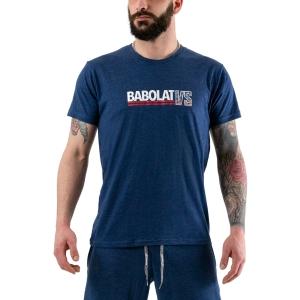 Men's Tennis Shirts Babolat Exercise Vintage TShirt  Estate Blue Heather 4MS204434005