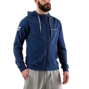 Men's Tennis Shirts and Hoodies Babolat Exercise Zip Hoodie  Estate Blue Heather 4MP11214005