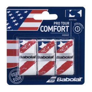 Sobregrip Babolat Flag USA Pro Tour x 3 Overgrip  White 653050331