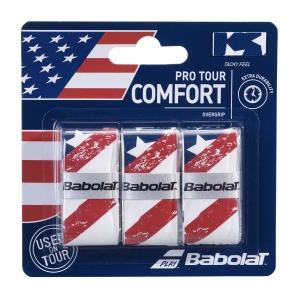 Overgrip Babolat Flag USA Pro Tour x 3 Overgrip  White 653050331