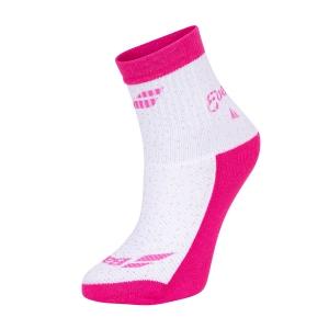 Tennis Socks Babolat Graphic Socks Girl  Rose Cabaret 5GA14515036