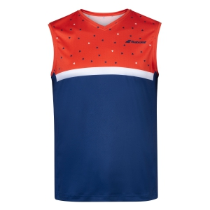 Men's Tennis Shirts Babolat Muscle Tank  Pureed Pumpkin/Estate Blue 2MS200716009