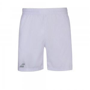 Pantalones Cortos  y Pantalones Boy Babolat Play 5in  Shorts Nino  White 3BP10611000