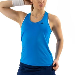 Canotte Tennis Donna Babolat Play Canotta  Blue Aster 3WP10714049