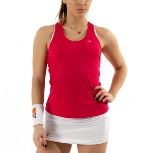 Canotte Tennis Donna Babolat Play Canotta  Red Rose 3WP10715028