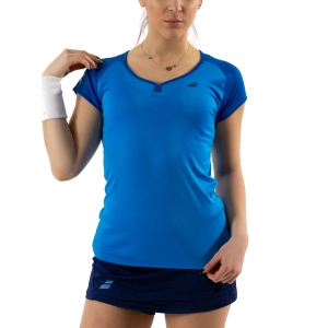 Women`s Tennis T-Shirts and Polos Babolat Play Cap TShirt  Blue Aster 3WP10114049
