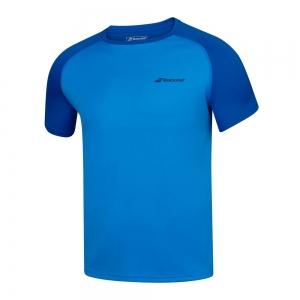 Tennis Polo and Shirts Babolat Play Crew TShirt Boy  Blue Aster 3BP10114049