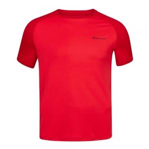 Tennis Polo and Shirts Babolat Play Crew TShirt Boy  Tomato Red 3BP10115027