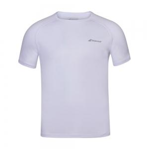 Tennis Polo and Shirts Babolat Play Crew TShirt Boy  White 3BP10111000