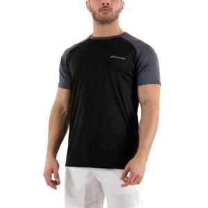 Men's Tennis Shirts Babolat Play Crew TShirt  Black 3MP10112000