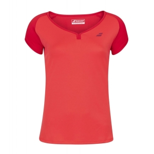 Top y Camisetas Niña Babolat Play Cap Camiseta Nina  Tomato Red 3GP10115027