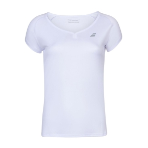 Top y Camisetas Niña Babolat Play Cap Camiseta Nina  White 3GP10111000