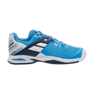 Junior Tennis Shoes Babolat Propulse All Court Junior  White/Blue Aster 33S204781030
