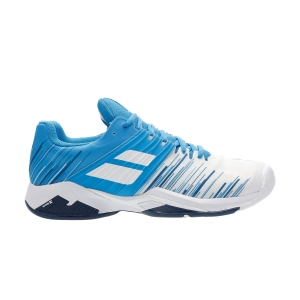 Men`s Tennis Shoes Babolat Propulse Fury All Court  White/Blue Aster 30S202081030