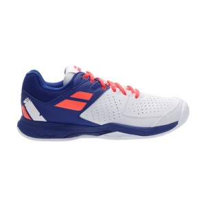Men`s Tennis Shoes Babolat Pulsion Clay  White/Dazzling Blue 30S203461044