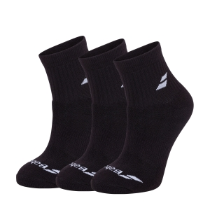 Calcetines de Tenis Babolat Quarter x 3 Calcetines  Black 5UA14012000