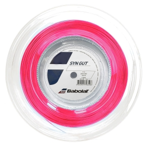 Multifilament String Babolat Syn Gut 1.30 String Reel 200 m  Pink 243144156130