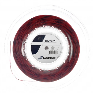 Multifilament String Babolat Syn Gut 1.30 String Reel 200 m  Red 243144104130