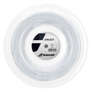 Multifilament String Babolat Syn Gut 1.30 String Reel 200 m  White 243144101130