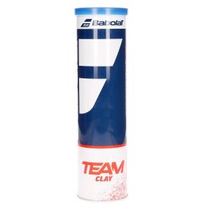 Pelotas Tenis Babolat Babolat Team Clay  Tubo de 4 Pelotas 502080