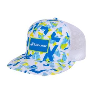 Tennis Hats and Visors Babolat Trucker Cap  White/Blue Aster 5UA12241030