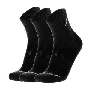 Tennis Socks Babolat Logo x 3 Socks Junior  Black 5JA13712000