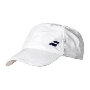 Tennis Hats and Visors Babolat Basic Logo Cap  White 5UA12211000
