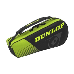 Tennis Bag Dunlop SX Club x 3 Bag  Black/Yellow 10295445