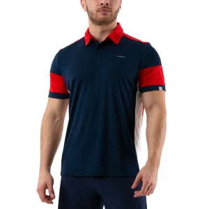 Men's Tennis Polo Head Ace Polo  Dark Blue/Red 811230 DBRD