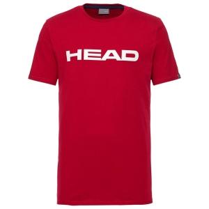 Maglietta Tennis Uomo Head Club Ivan Maglietta  Red/White 811400RDWH