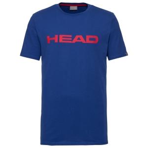 Men's Tennis Shirts Head Club Ivan TShirt  Royal/Red 811400RORD