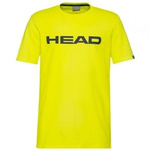Men's Tennis Shirts Head Club Ivan TShirt  Yellow/Dark Blue 811400YWDB