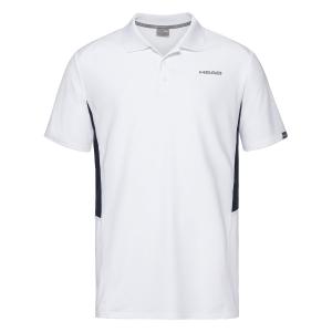 Tennis Polo and Shirts Head Club Tech Polo Boy  White/Dark Blue 816329 WHDB