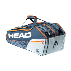 Tennis Bag Head Core x 9 Supercombi Bag  Grey/Orange 283509 GROR