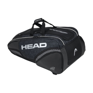 Tennis Bag Head Djokovic x 12 Monstercombi Bag  Black/White 283040 BKWH