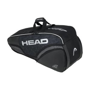 Tennis Bag Head Djokovic x 6 Combi Bag  Black/White 283060 BKWH