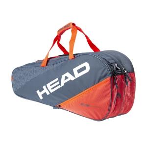 Tennis Bag Head Elite x 6 Combi Bag  Grey/Orange 283550 GROR