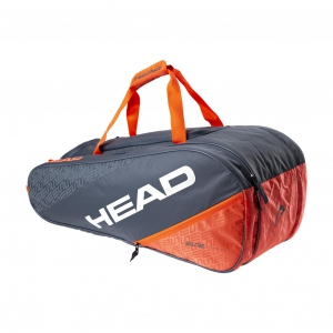 Tennis Bag Head Elite x 8 All Court Bag  Grey/Orange 283520 GROR