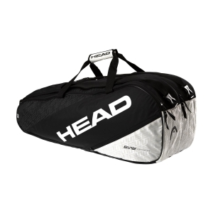 Tennis Bag Head Elite x 9 Supercombi Bag  Black/White 283540 BKWH