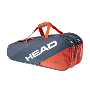 Tennis Bag Head Elite x 9 Supercombi Bag  Grey/Orange 283540 GROR