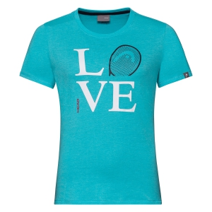 Top y Camisetas Niña Head Love Camiseta Nina  Aqua 816370 AQ