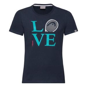 Top and Shirts Girl Head Love TShirt Girl  Dark Blue 816370 DB