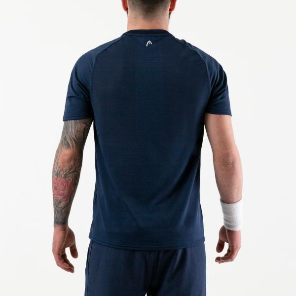Head Performance Camiseta - Triangle Print/Dark Blue