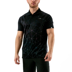 Men's Tennis Polo Head Performance Polo  Triangle Print/Black 811000 XA
