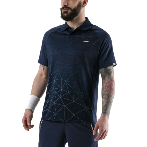 Men's Tennis Polo Head Performance Polo  Triangle Print/Dark Blue 811000 XC